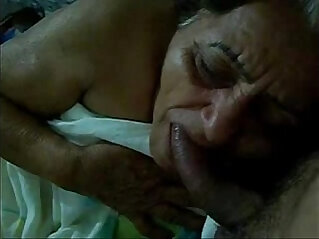 blowjob, granny, old, old and young