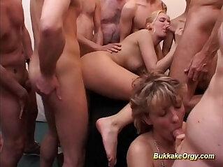 bukkake, german, orgy