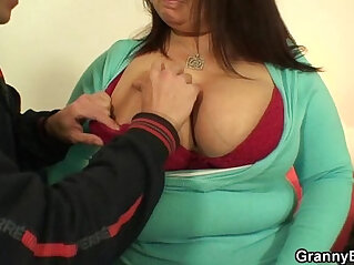 busty, granny, hitchhiker, legs, plumper