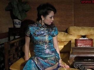 bondage, chinese, high heels, stockings