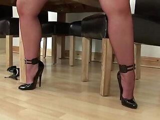 mature, solo, stockings