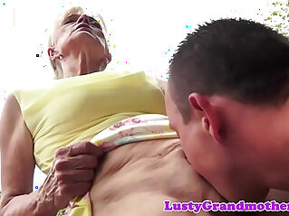 action, banged, cum, grandma, granny, hairy cunt, outdoor, pussy