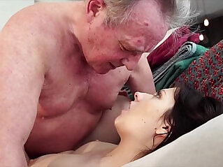 cum, grandpa, old, pussy, swallow, young, young and old