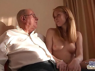 grandpa, old, pussy, pussy lick, young, young and old