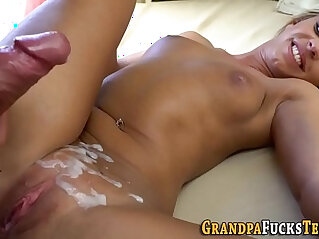 grandpa, old, old and young, oral, slut