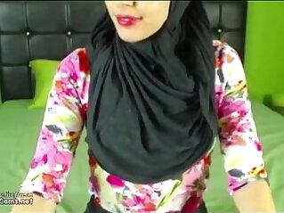 arabian, chat, creampie, hijab, masturbation, pussy, webcam