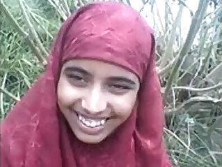 muslim - desi Bangla muslim Hijab beauty in forest