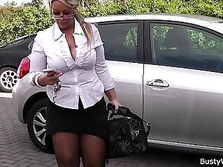 bbw, blonde, legs, money, stockings