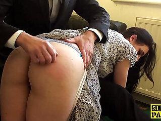 asian cock, british, high heels, riding, spanking