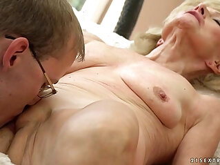 creampie, granny, old, young, young and old