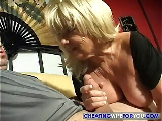 big boobies, blonde, blowjob, boobs, mature, MILF, mom, POV